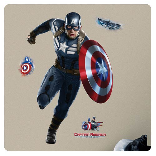 Captain America Peel and Stick Giant Wall Decal