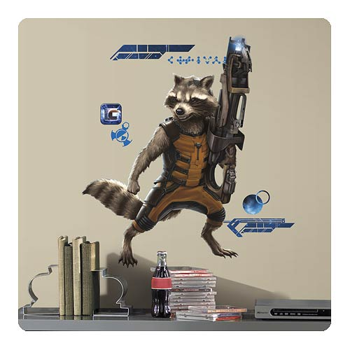 Guardians of the Galaxy Rocket Raccoon Giant Wall Decal