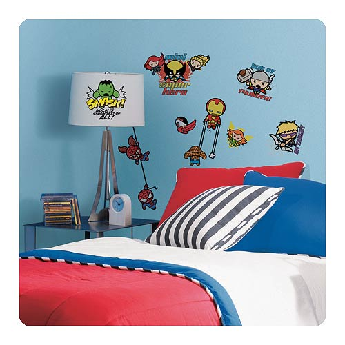 Marvel Superhero Kawaii Art Peel and Stick Wall Decals