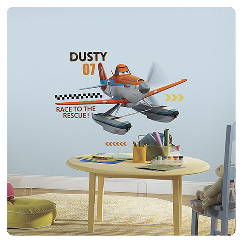 Planes Fire and Rescue Dusty Peel and Stick Giant Wall Decal
