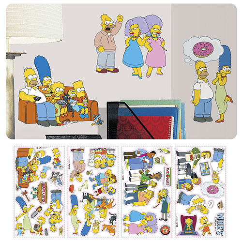 The Simpsons Peel And Stick Wall Decals Roommates