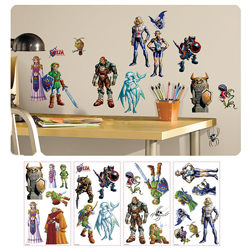 Legend of Zelda: Ocarina of Time Peel and Stick Wall Decals