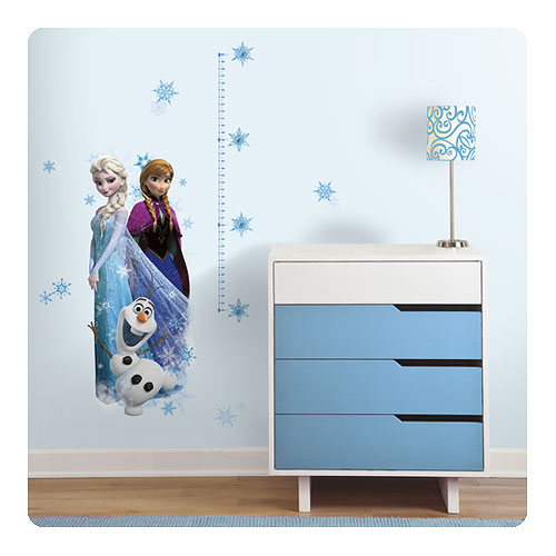 Disney Frozen Elsa, Anna, and Olaf Peel and Stick Giant Growth Chart Wall Decal