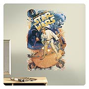 Star Wars Retro Mega Peel and Stick Giant Wall Decal
