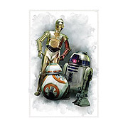 Star Wars Episode VII The Force Awakens Droids Giant Wall Graphic
