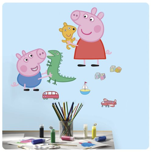 Peppa Pig with George Playtime Giant Wall Decals