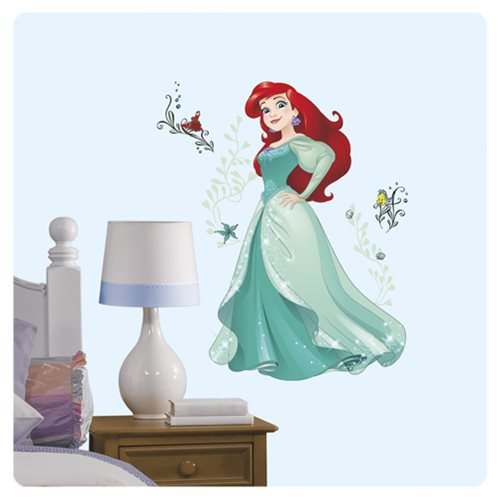 Little mermaid ariel sparkling princess giant wall decals for Barbie princess giant wall mural
