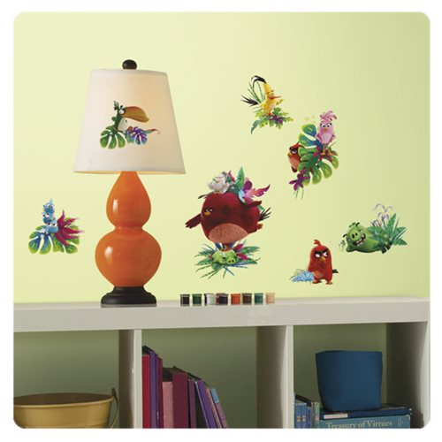 Angry birds the movie peel and stick wall decals for Angry bird wall mural