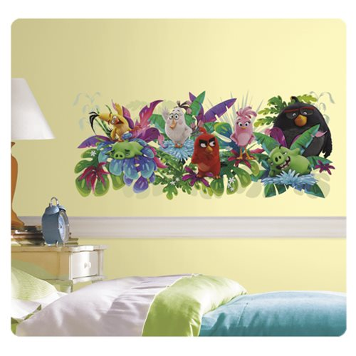 Angry birds the movie peel and stick giant wall graphic for Angry bird wall mural