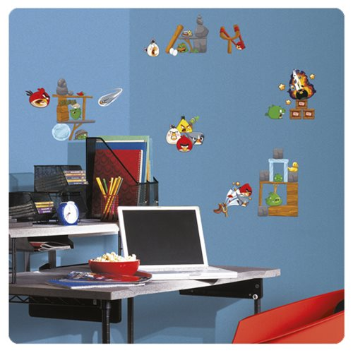 Angry birds 2 0 peel and stick wall decals roommates for Angry bird wall mural
