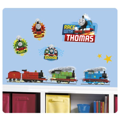 thomas and friends racing peel and stick wall decals thomas the tank engine wall decal for kid s room decor