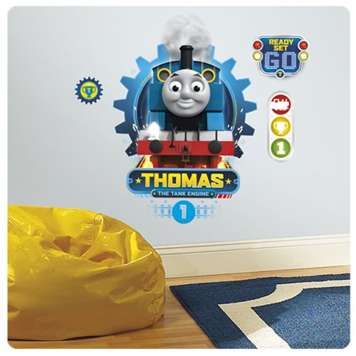 thomas the tank engine peel and stick wall decals. Black Bedroom Furniture Sets. Home Design Ideas