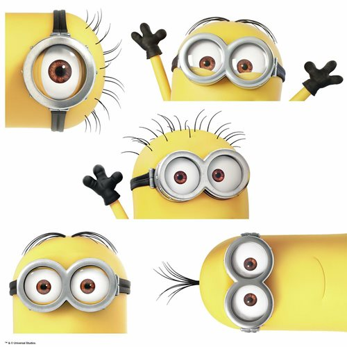 Despicable Me 3 Peeking Minions Peel and Stick Giant Wall Decals