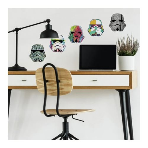 Star Wars Artistic Stormtrooper Heads Peel and Stick Giant Wall Decals