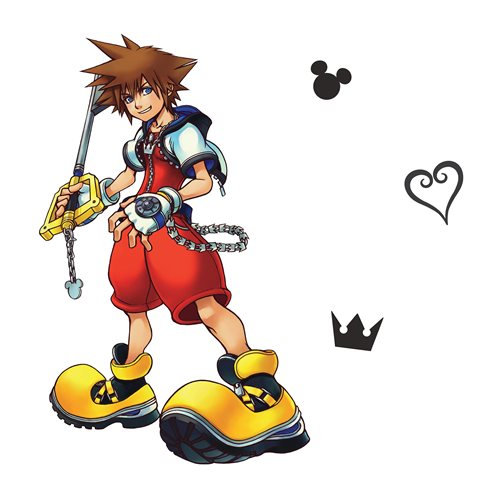 Kingdom Hearts Sora Peel and Stick Giant Wall Decal