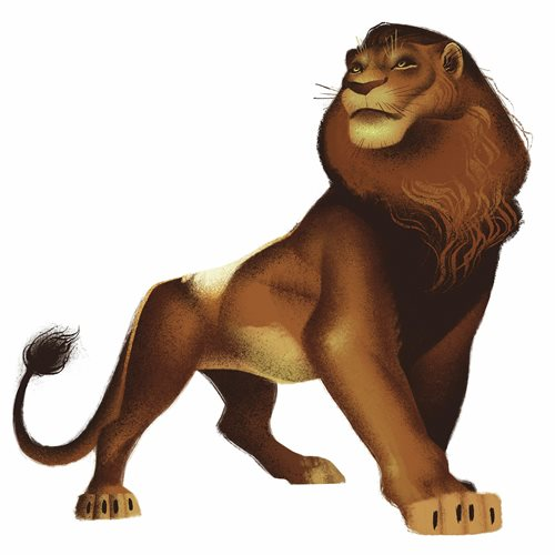 The Lion King Simba Peel and Stick Giant Wall Decals