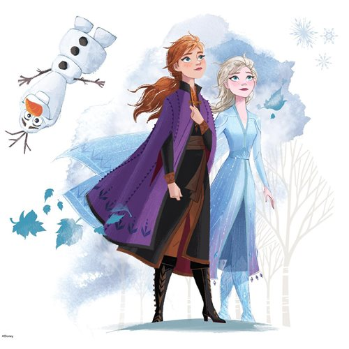 Frozen II Peel and Stick Giant Wall Decals