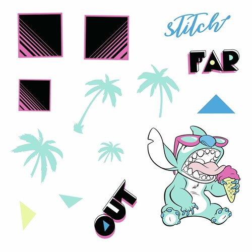 Disney Stitch Far Out Peel and Stick Wall Decals