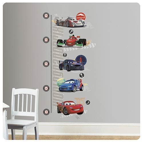 Cars 2 Metric Growth Chart Peel and Stick Wall Decal