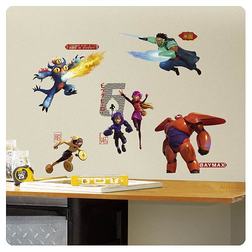 Big Hero 6 Marvel Peel and Stick Wall Decals