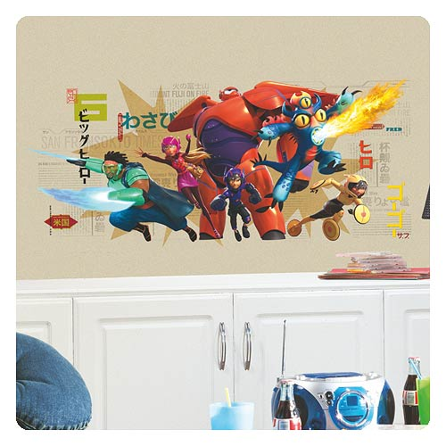 Big Hero 6 Marvel Wall Graphix Peel U0026 Stick Giant Wall Decal