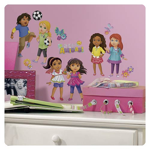 Dora and friends peel and stick wall decals roommates for Dora the explorer wall mural
