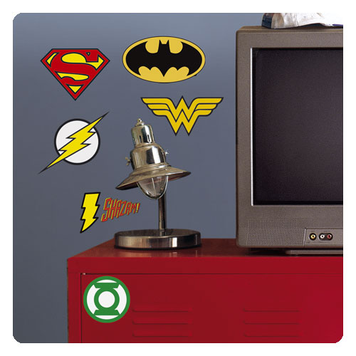 DC Superhero Logos Peel and Stick Giant Wall Decals