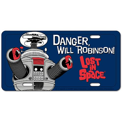 Lost in Space Metal License Plate - Tin10 Collectibles - Lost in Space - Signs at Entertainment Earth