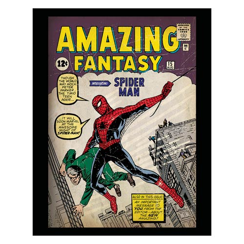 Amazing Fantasy Spider-Man Intro Stretched Canvas Print