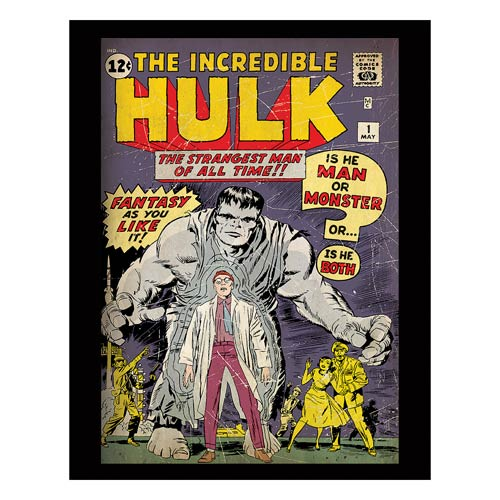 Hulk Man or Monster Comic Cover Stretched Canvas Print