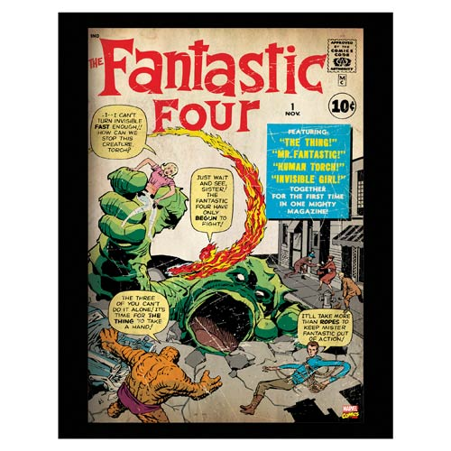Fantastic Four Marvel Comic Cover Stretched Canvas Print