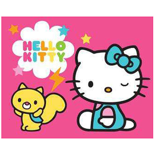 Hello Kitty Cloud Squirrel Stretched Canvas Print