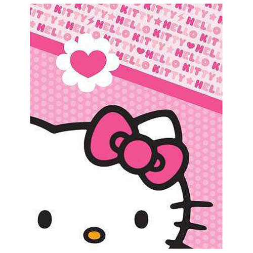 Hello Kitty Monochromatic Pink Heart Bow Canvas Print