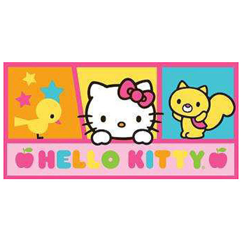 Hello Kitty Apple Kitty Friends Stretched Canvas Print