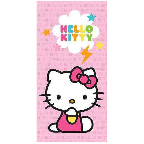Hello Kitty Pink Lighting Bolt Stretched Canvas Print
