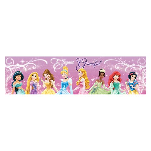 Disney Princesses Graceful Lineup Stretched Canvas Print