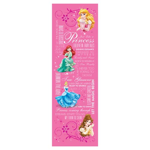 Disney Princesses Typography Stretched Canvas Print