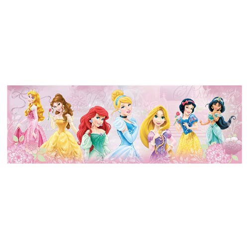 Disney Princesses Flower Lineup Stretched Canvas Print