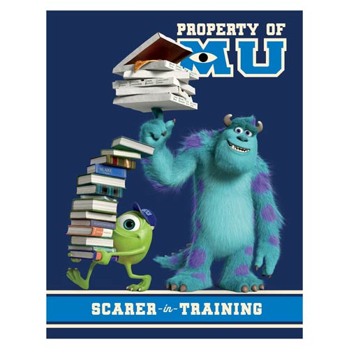 Monsters University Mike and Sully Stretched Canvas Print