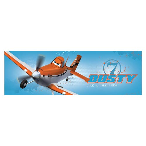 Planes Dusty Like a Champion Stretched Canvas Print