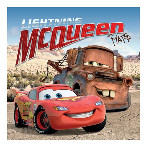 Cars Lightning McQueen and Mater Stretched Canvas Print