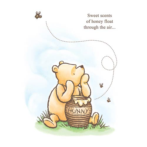 Winnie the Pooh Sweet Scents of Honey Stretched Canvas Print