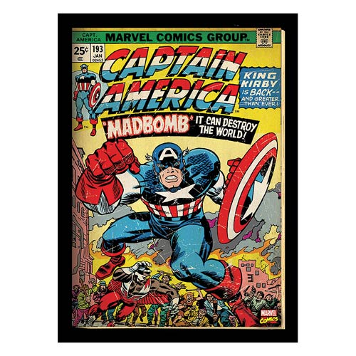 Captain America Marvel Comic Cover Stretched Canvas Print