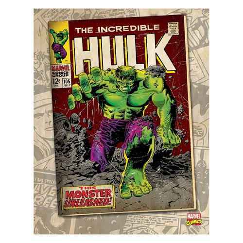 Hulk Monster Unleashed Comic Cover Stretched Canvas Print