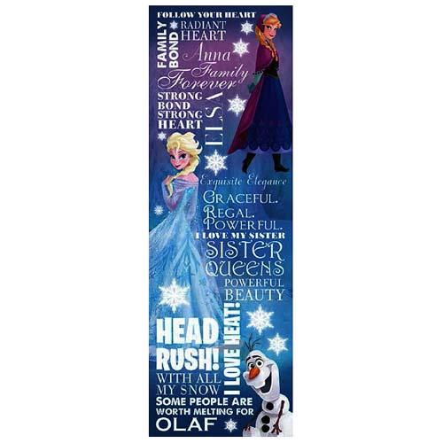 Disney Frozen Typography Small Stretched Canvas Print
