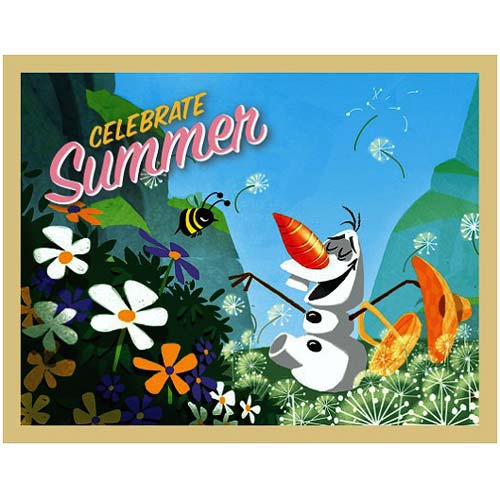 Disney Frozen Olaf Celebrate Summer Large Stretched Canvas Print