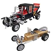The Munsters Munster Koach and Dragula L.E. Tin Model Kit