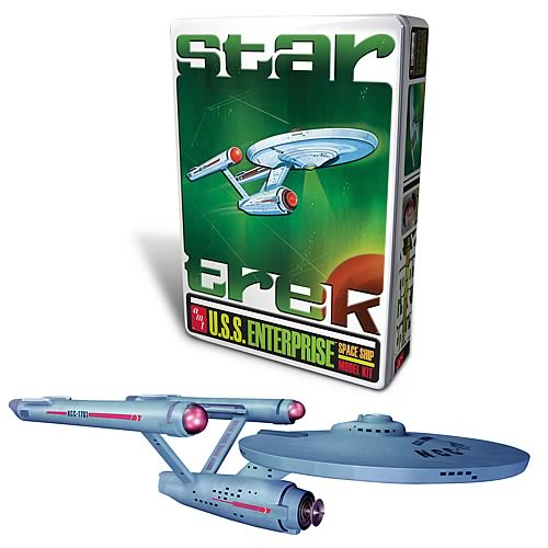 Star Trek Classic Enterprise in Tin Box Model Kit