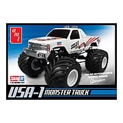 USA-1 4X4 Monster Truck with Decals Snap Model Kit