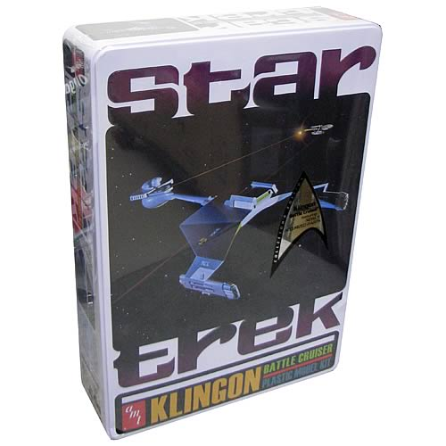 Star Trek Klingon Battle Cruiser Special Ed. Tin Model Kit